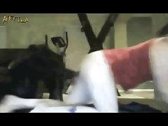 Webcam Masked Girl And Dog (part 3)
