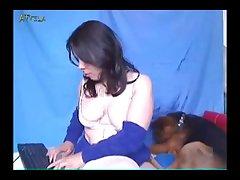 Amateur Webcam Lady And Dog 2 (part 6)