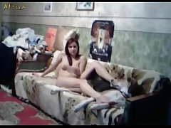 Russian Couple Fucking With Dog On Webcam (part 4)