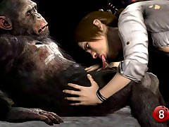 3d Animated Far Cry 3 Liza Sex with monkey, special for Videos de X